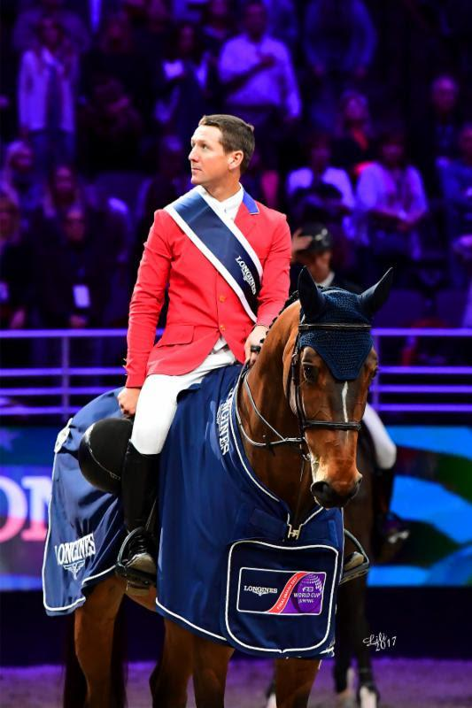 McLain Ward and HH Azur win LONGINES FEI World Cup™ Jumping Final I  (Photo: Lili Weik)