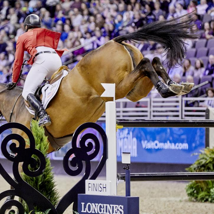 McLain Ward (USA) & HH Azur (Photo: Liz Gregg/FEI)