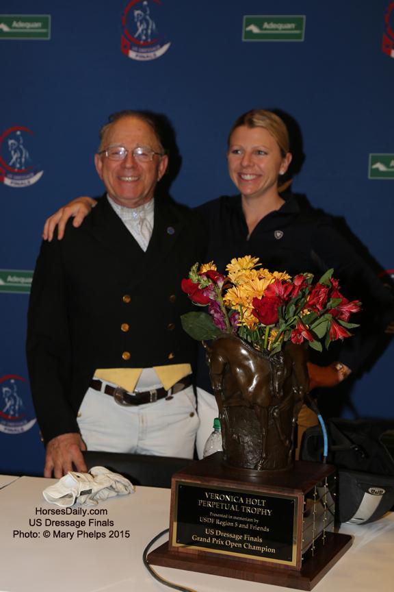 Michael and Gwen Poulin share the limelight in the Open Grand Prix Photo: © Mary Phelps 2015