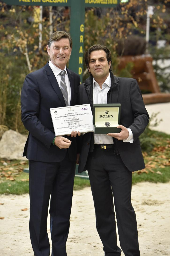Rolex representative Laurent Delanney and Oliver Lück. (Photo: Ridehesten.com)