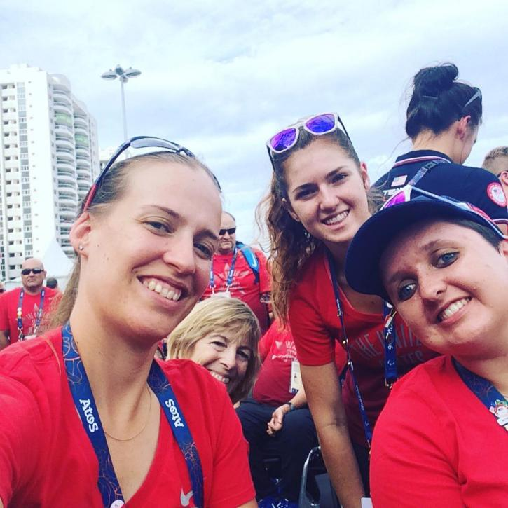 US Para Team, Rebecca Hart, Margaret McIntosh, Annie Peavy, and Sydney Collier