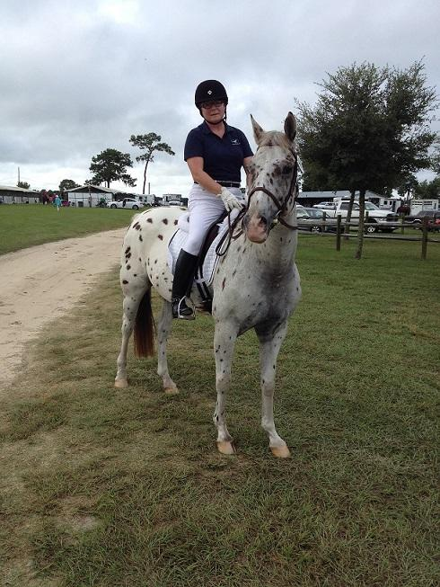 Patricia Estes (FL) and her Appaloosa, Herman