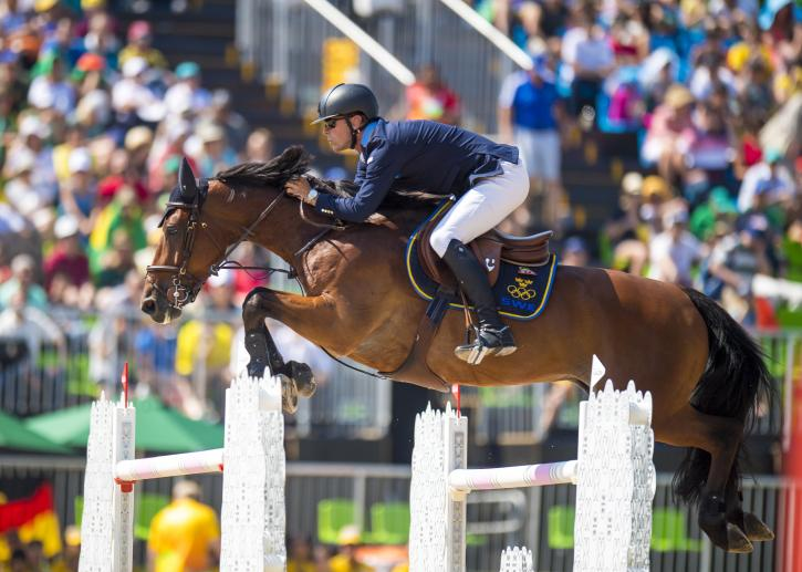 Peder Fredricson (SWE) and All In. Silver medalists (Photo: Arnd Bronkhorst)