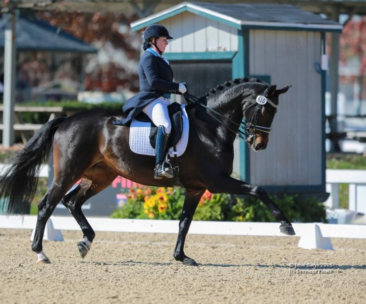 "Rebecca Knollman and Rocky Lane were the highest scoring FEI mare of the US Dressage Finals earning the Lloyd Landkamer Perpetual Trophy.<br /><a href=""http://www.johnborysphotography.net/"" target=""_blank"">Photo by John Borys</a>"