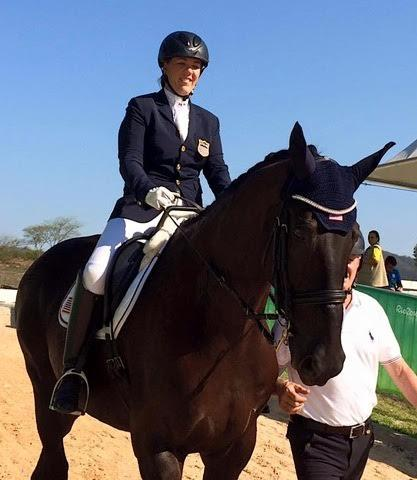 Roxanne Trunnell finished 10th out of 25 riders in the Grade 1A Individual test aboard Rachel Zent and Julia Handt's NTEC Royal Dancer.