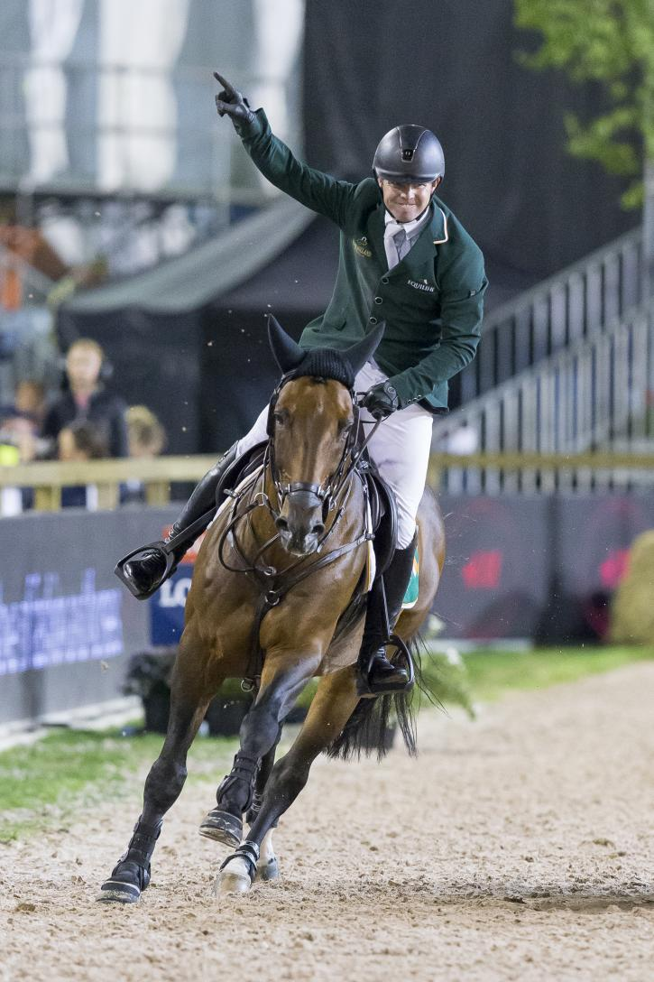 Shane Sweetman (IRL) riding Chaqui Z (Photo: FEI/Claes Jakobsson)