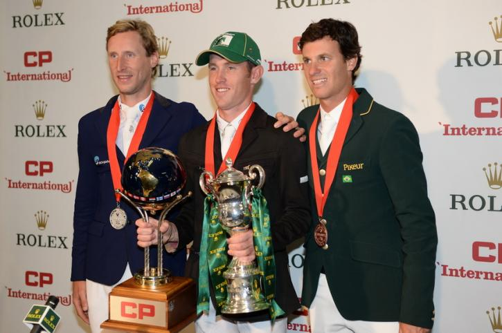 Pieter Devos, Scott Brash and Pedro Veniss (Photo: Diana DeRosa)