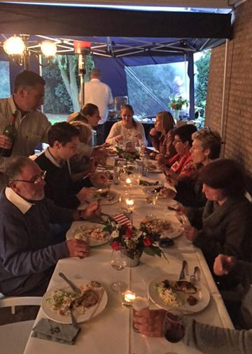 Send off dinner in Holland<br />