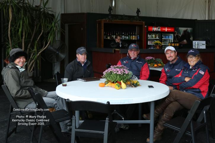 Four in Hand Drivers meet at The Kentucky Classic CDE Photo: © Mary Phelps 2015