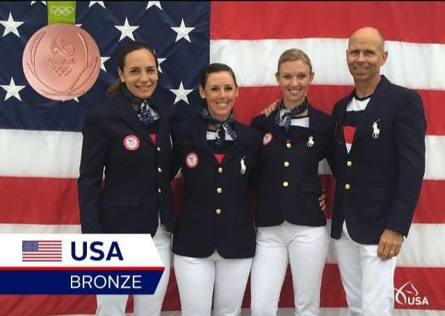 US Dressage Team Olympic Bronze 2016 - Ali Brock, Kasey Perry Glass, Laura Graves,  and Steffen Peters.