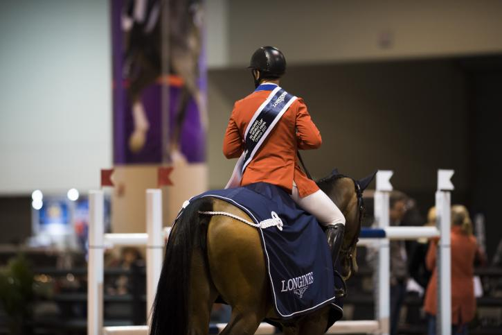 Winner McLain Ward (USA) exits with HH Azur after his round 1 win (Photo: Cara Grimshaw/FEI)