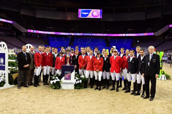 2017 Longines FEI World Cup™ Jumping Final  Competitors and Officials (Photo: Lili Weik)