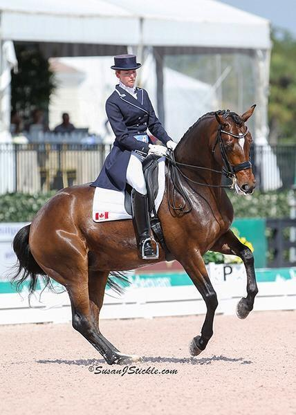 Tina and Fancy That in Wellington Florida, they were part of the bronze medal Canadian team at the nations cup in 2015 and short listed for the Canadian Pan Am Team. (Photo: SusanJStickle.com)
