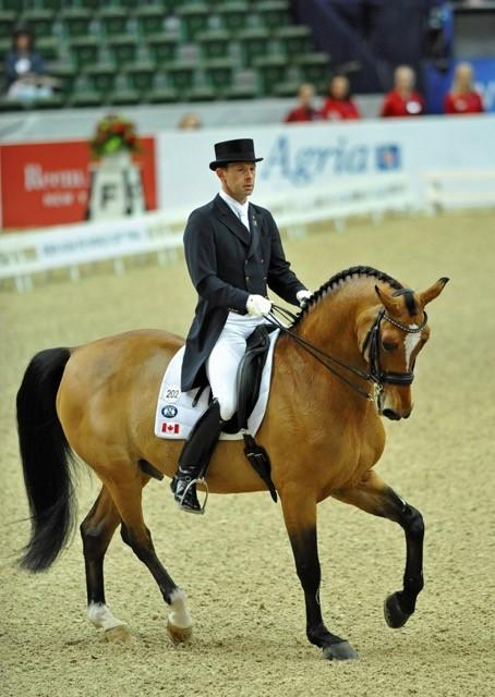 Jaimey and Lindor's Finest at the FEI World Cup in Gothenburg, Sweden.