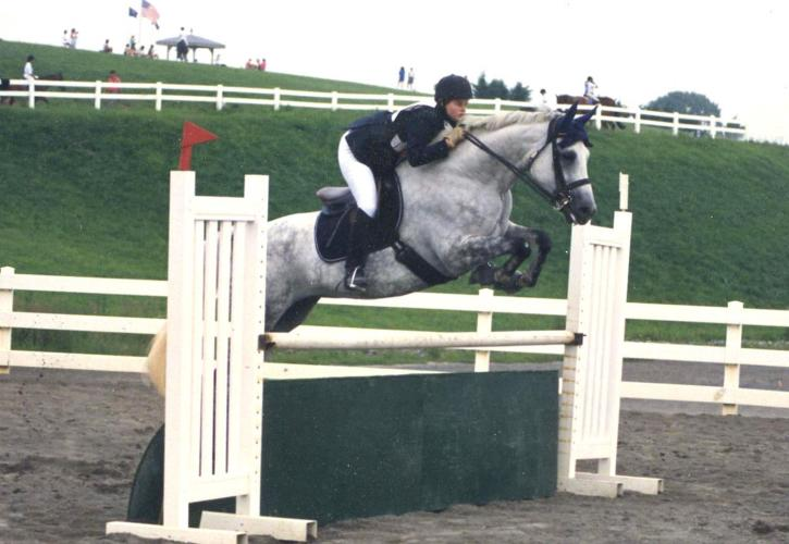 Ellie Rawle and Double Bounce<br />Pony Club National Finals 1994
