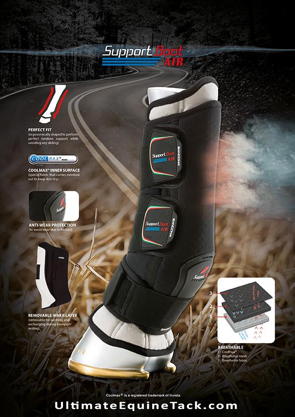 Transport boots from Zandona. Zandona is an Italian brand that brings the best in protection for horse and rider.
