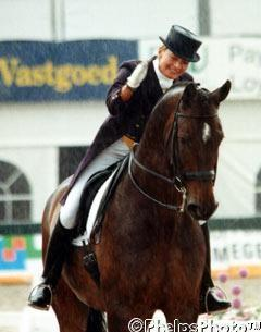 Christine Traurig and her 2000 Olympic start, Etienne. Photo: Mary Phelps