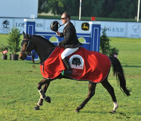 Cian O'Connor and Quidam's Cherie dominated the 1.40m Waldron Private Wealth Management Welcome Speed Stake in 60.56 seconds (Photo:PicsofYou.com)