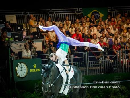Jeanine van der Sluijs was Canada's highest placed vaulter in the FEI World Female Individual Female Individual Vaulting Championship after finishing in 21st place overall. Photo Credit: Erin Brinkman for Shannon Brinkman Photo