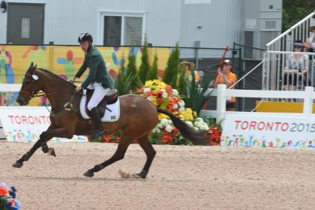Henrique Plombon South American Championship Indivudual Silver Medalist and his Holsteiner mare Land Quenotte Photo: © Diana De Rosa