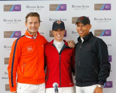 Top three: Edward Gal, Charlotte Dujardin and Steffen Peters at the press conference  (Photo: (c) McCool Photography)