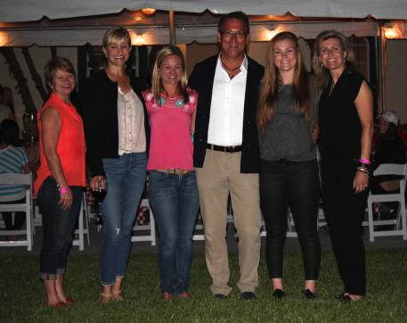 Left to right - Terri Kane, Kim Boyer, Devon Kane, Michael Davis, Bebe Davis, and Sarah Davis at the 2014 Youth Dressage Championship dinner held at Diamante Farms. The group will also host the 2015 USEF Youth Dressage Program.