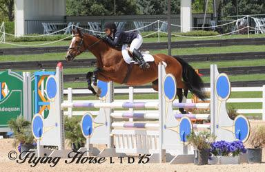 Adult Amateur Individual Gold Medalist Kate Jenks aboard Breakfast at Tiffany's. (Photo: Flying Horse LTD)