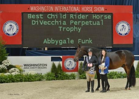 Abbygale Funk was named Best Child Rider on a Horse with Neander. Photo© Shawn McMillen Photography