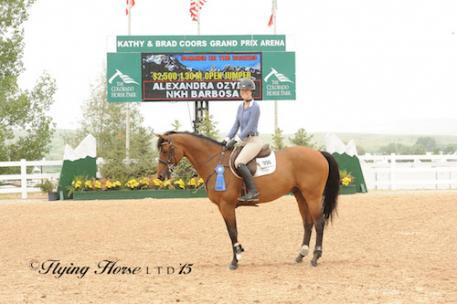 Alexandra Ozymy and NKH Barbosa in their winning presentation (Photo: Flying Horse Photography)