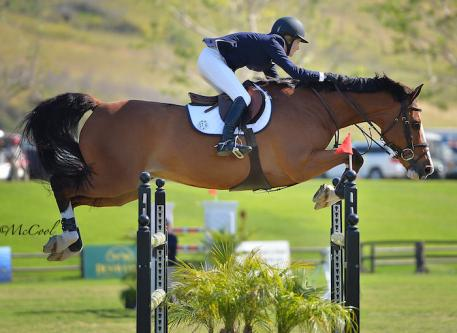 Allyssa Hecht and Neaulani Farms' Calero. Photo by McCool Photography