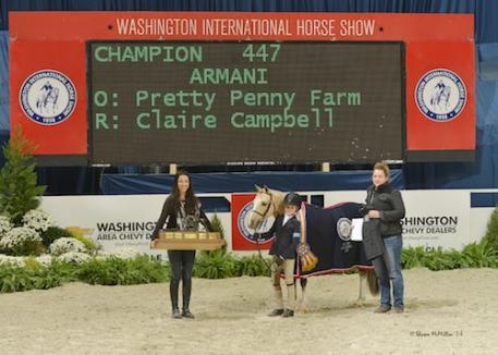 Armani and Claire Campbell in their grand champion presentation. Photo © Shawn McMillen Photography, www.shawnmcmillen.com.