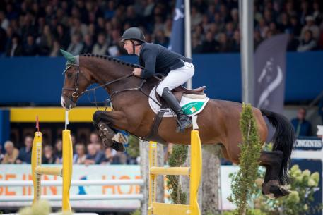 Ireland's Gerard O'Neill and the Irish Sport Horse Killossery Kaiden produced the only double-clear in today's final competition to win the 6-Year-Old title at the FEI World Breeding Jumping Championships for Young Horses 2016 at Lanaken, Belgium. (Photo: Dirk Caremans)