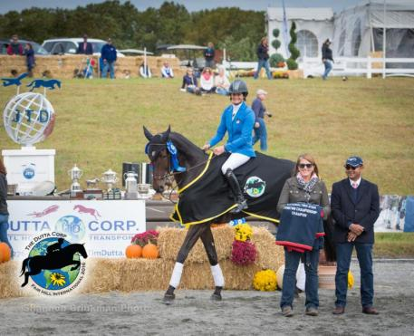 CCI** Fall Champion Jennie Brannigan and Stella Artois.