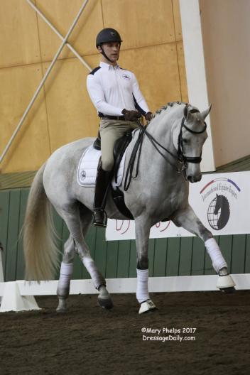 Zikomo De Grand (Democrat x Gribaldi), a 13-year- old Dutch gelding owned by Jean Vinios