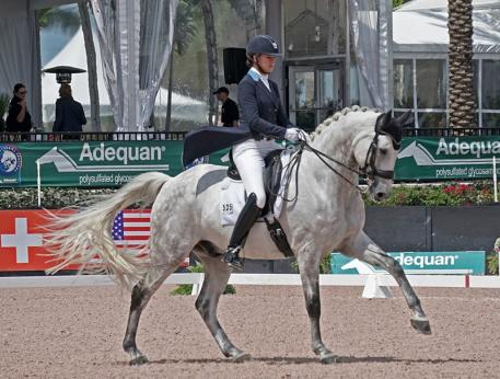Adrienne Lyle riding to excellence during week eight of the Adequan Global Dressage Festival. (Photo: Ally Dunlop)
