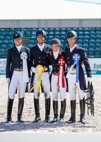 Adrienne Lyle (USA), Juan Matute, Jr. (ESP), Laura Tomlinson (GBR), and Chris Von Martels (CAN) in their awards ceremony