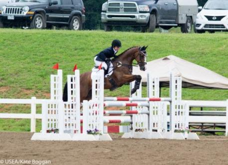 Alex Peterson and Willie Wiggins riding in the CCI* for Clemson University