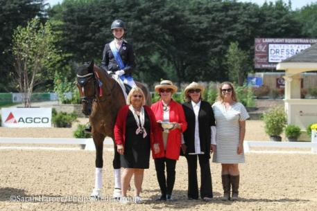 Allison Hopkins, Royal Falcon, Markel Young Horse Championships, USEF Dressage Seat Medal Final