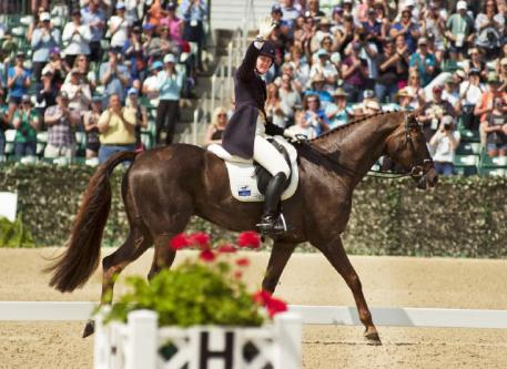 Allison Springer and Arthur said farewell to their fans with a lovely dressage performance in front of cheering crowds.