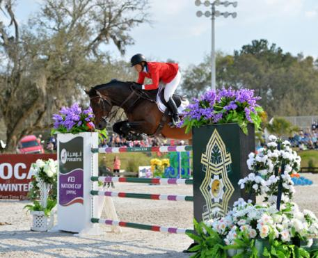 Beezie Madden and Breitling LS on their way to a Furusiyya FEI Nations Cup CSIO4*, presented by Edge Brewing Barcelona, win at HITS Post Time Farm in Ocala, Florida.