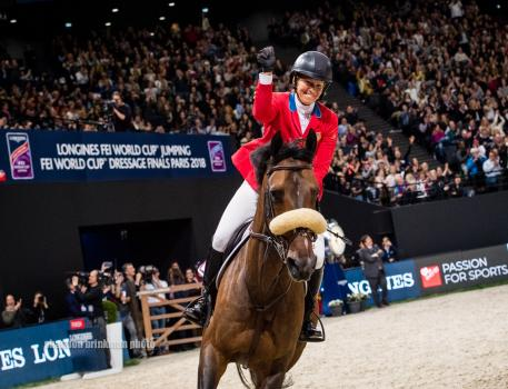 Beezie Madden and Breitling LS claimed victory at the Longines FEI World Cup Jumping Final