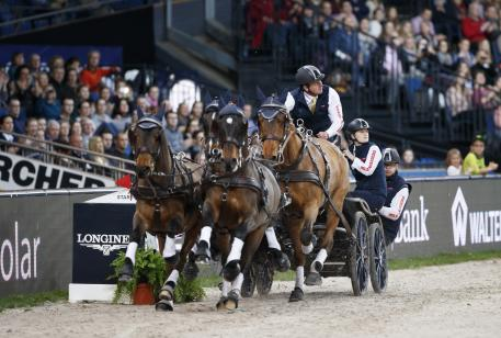 Boyd Exell (AUS) was unable to beat Chardon's very fast and clear second round in Stuttgart