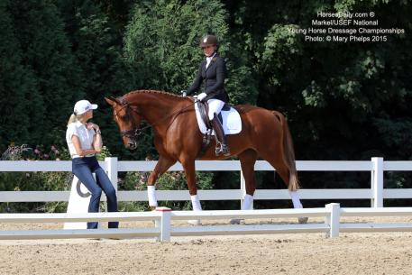 "U.S. Dressage Young Horse Coach Christine Traurig told Brooke Voldbaek Sonnenberg Farm's Generosa S  ""looked like she lived"" in the Young Horse spotlight."