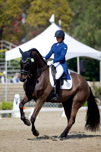 Rising star Anna Buffini and Sundayboy claimed their first CDI large tour victory in the Grand Prix Special.