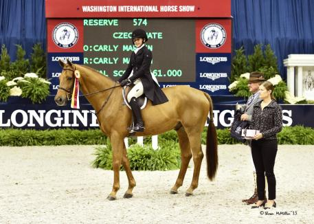 Carly Martin and Czech Mate took the Reserve Championship in the WIHS Children's Hunter Finals