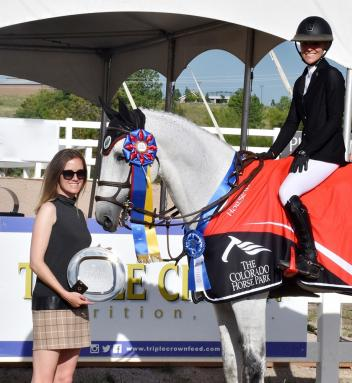 Chenoa McElvain was a 2017 Triple Crown Excellence Award winner at The Colorado Horse Park Summer in the Rockies series.
