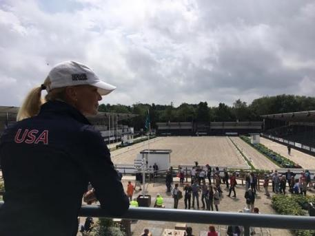National Trainer Christine Traurig, Ermelo, World Championships of Young Dressage Horses