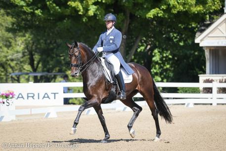 Christopher Hickey and Straight Horse Zackonik (Photo: Annan Hepner/PS Dressage)