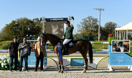 Cian O'Connor and Seringat winning the 00,000 City of Ocala Grand Prix.