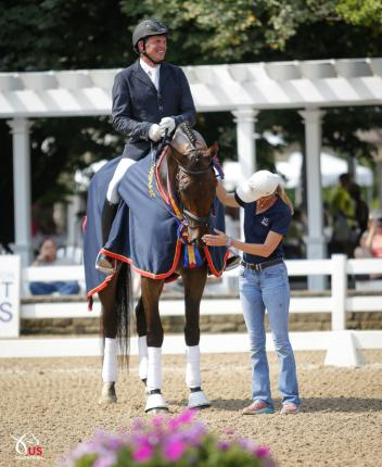 Craig Stanley' and Habanero CWS, the Markel/USEF Six Year Old National Champion